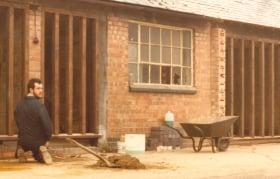 Building at Riverside Works in Buckingham 1982