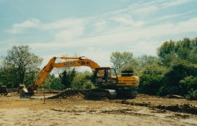 Digging the foundations for BCQ offices at Osier Way 2002
