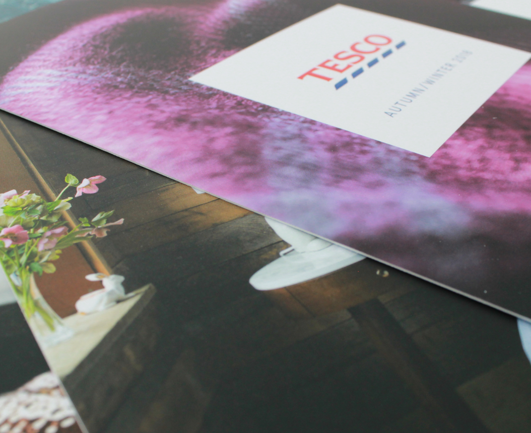 Printed brochures for Tesco