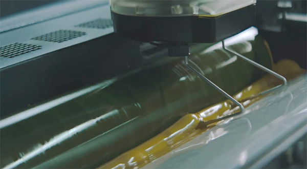 Yellow ink in offset litho printing press
