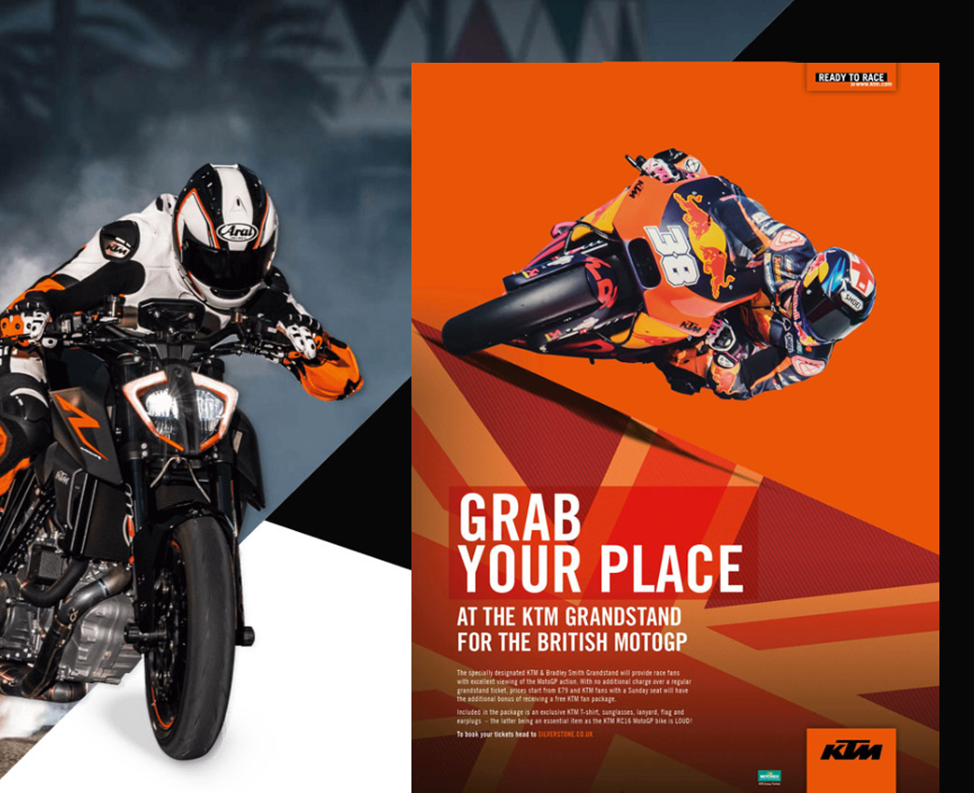 KTM Motorcycle advertising