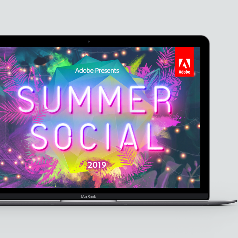 Adobe Summer Social event graphics