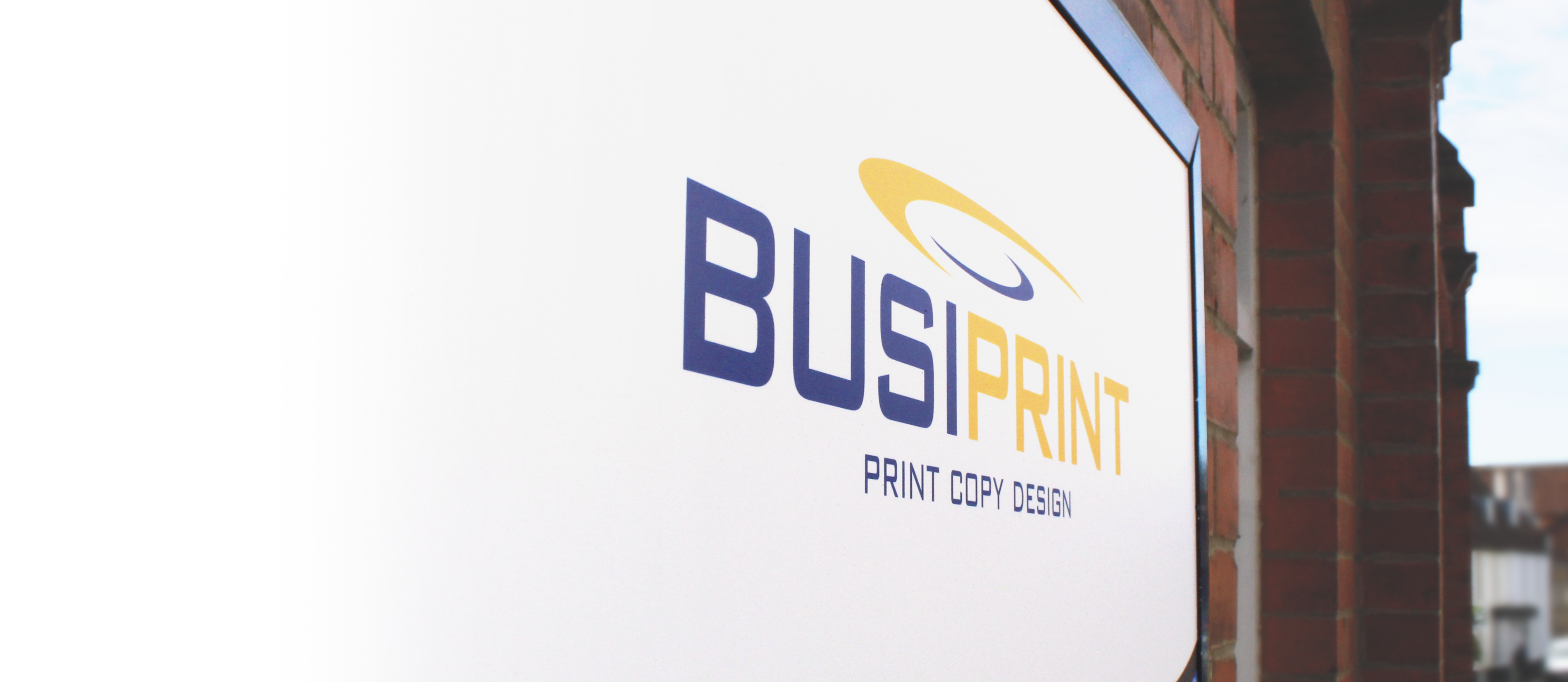 Busiprint sign and logo on sign