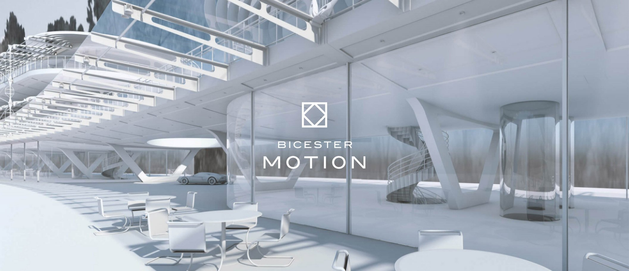 Bicester Motion logo on architectural 3D visual