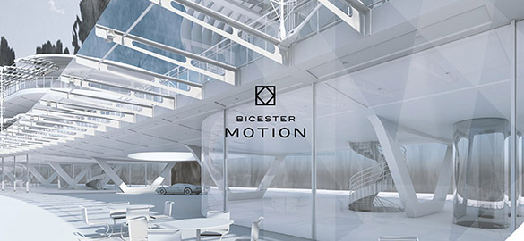 Bicester Motion logo on architectural drawing