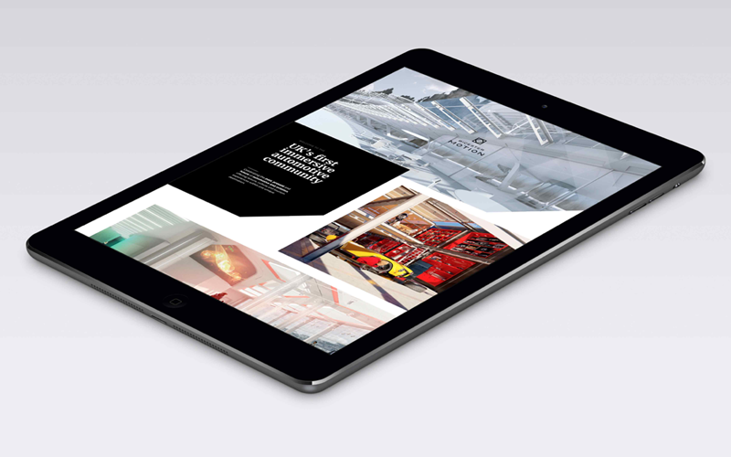 Bicester Motion website on iPad