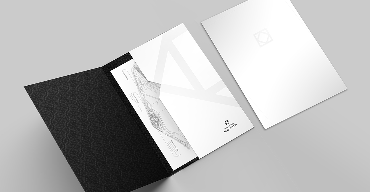 Printed folder and inserts for Bicester Motion