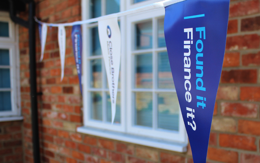 Close Brothers Motor Finance bunting
