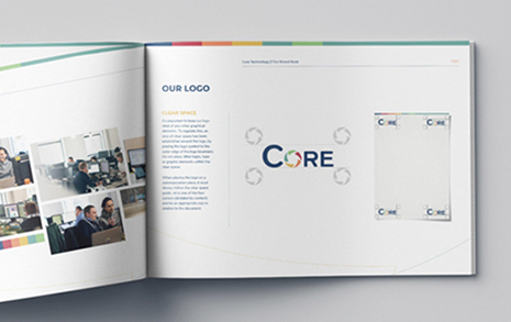 Core Brand Book open on page