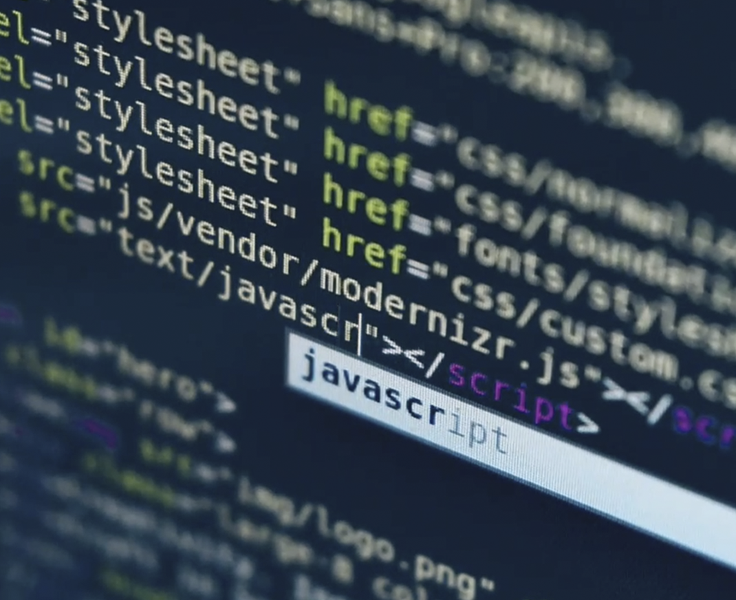 Javascript code on screen
