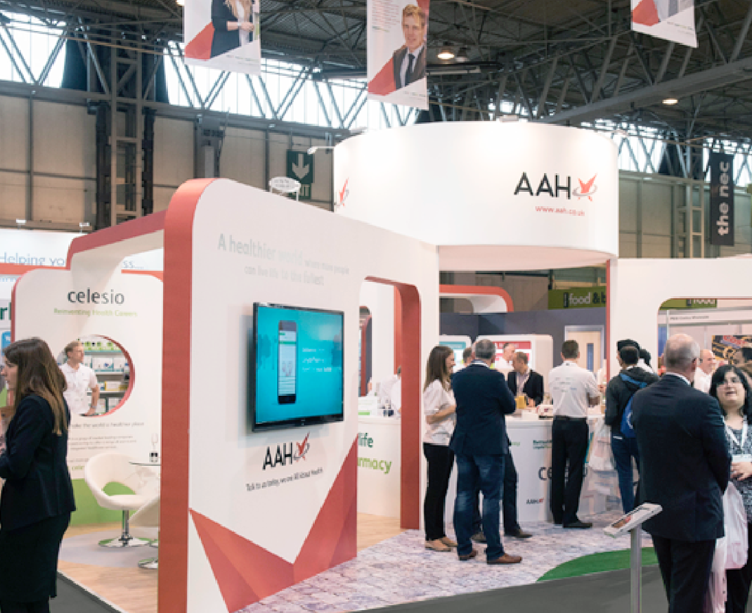 Exhibition stand for AAH Pharmaceuticals