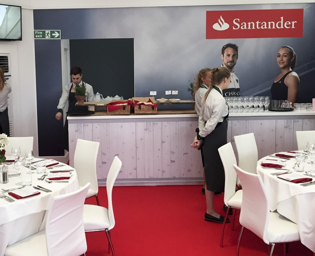 Interior event graphics for Santander