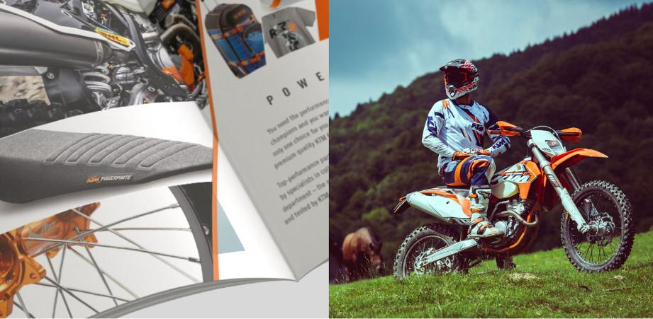 KTM printed brochure