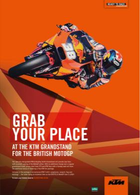 KTM British Grand Prix Grandstand Poster