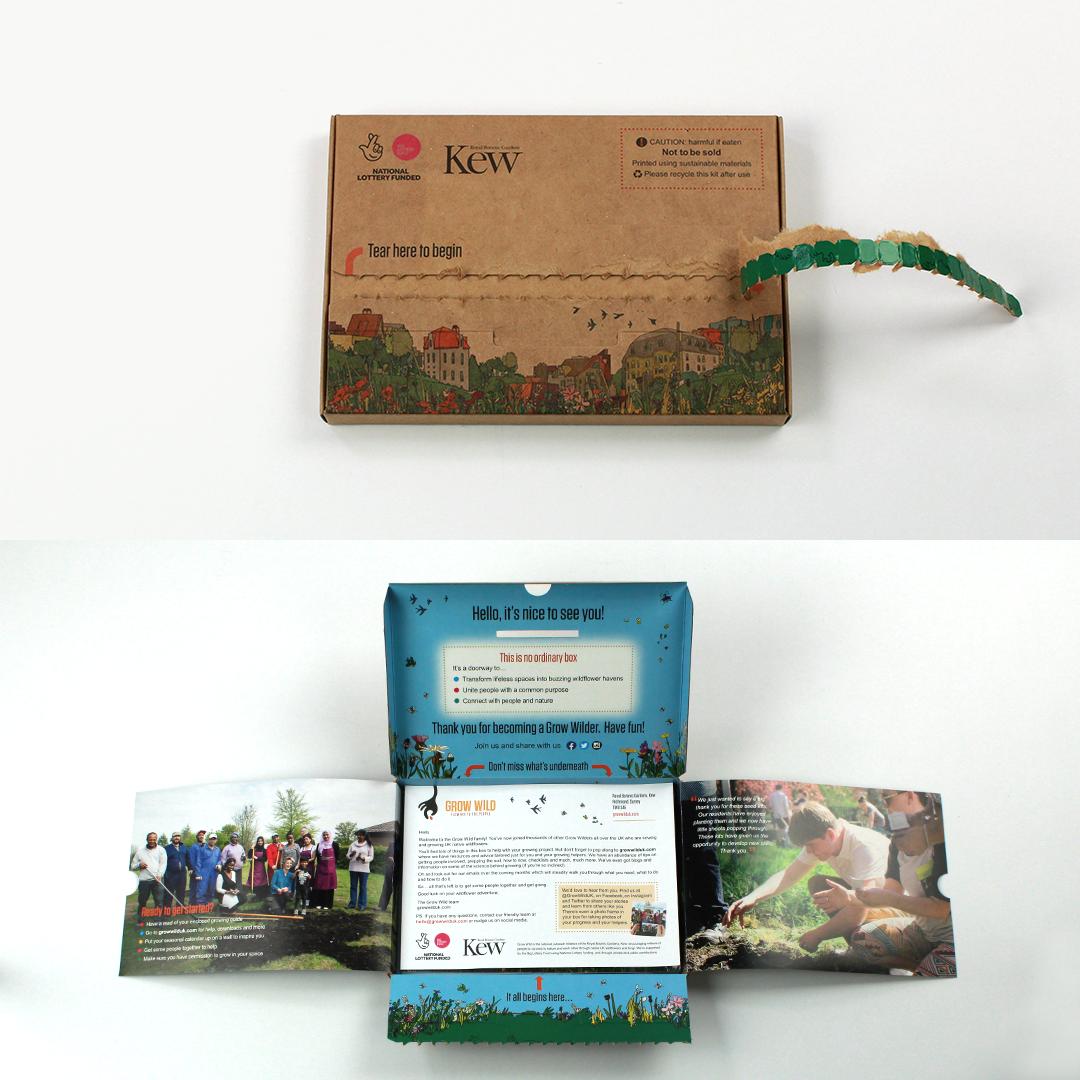 Kew Gardens printed seed mailing box
