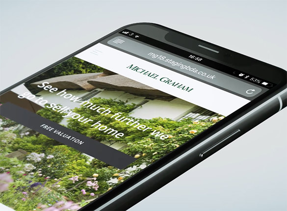 Michael Graham website on an iPhone