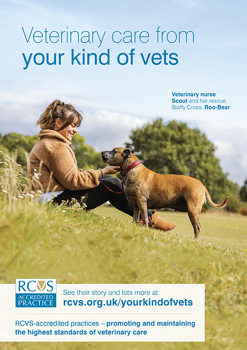 Your kind of vets poster veterinary nurse and her dog