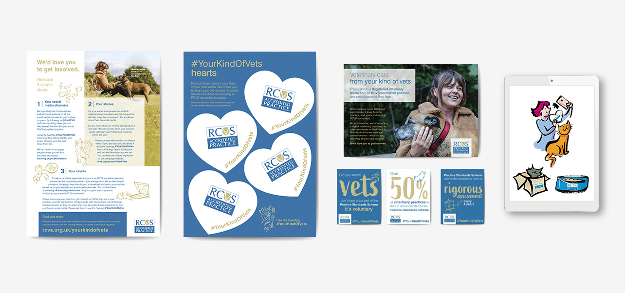 Your kind of vets direct mail and social media assets