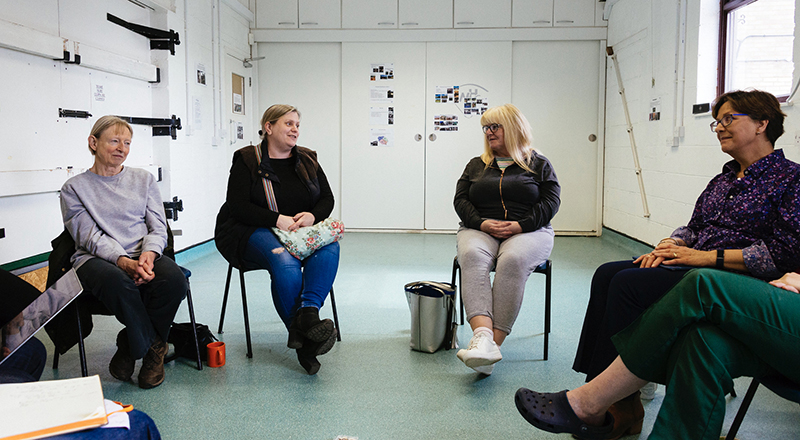 A workshop held with animal owners at a veterinary practice