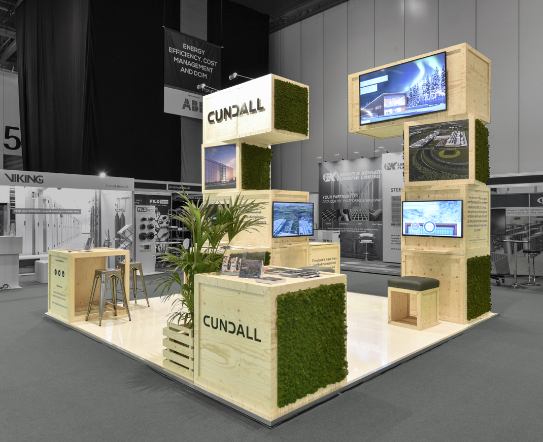 Cundall wooden exhibition stand