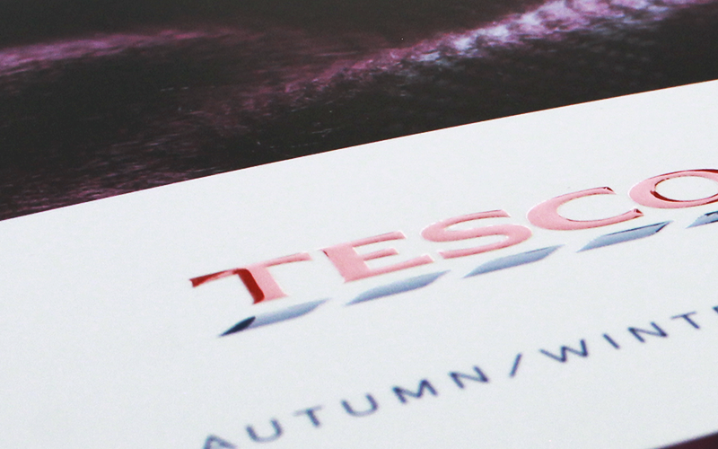 Tesco brochure close up