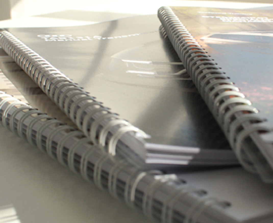 Wiro bound printed training manuals