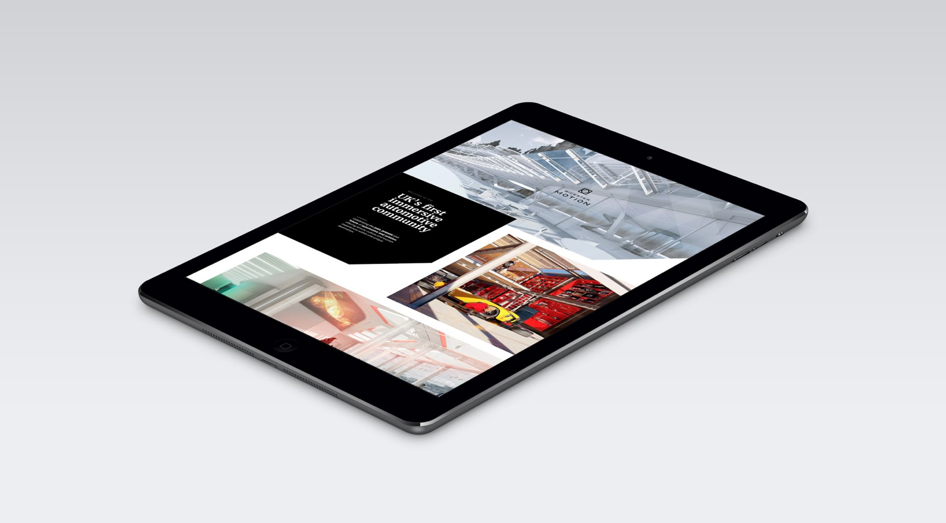Bicester Motion website displayed on an iPad