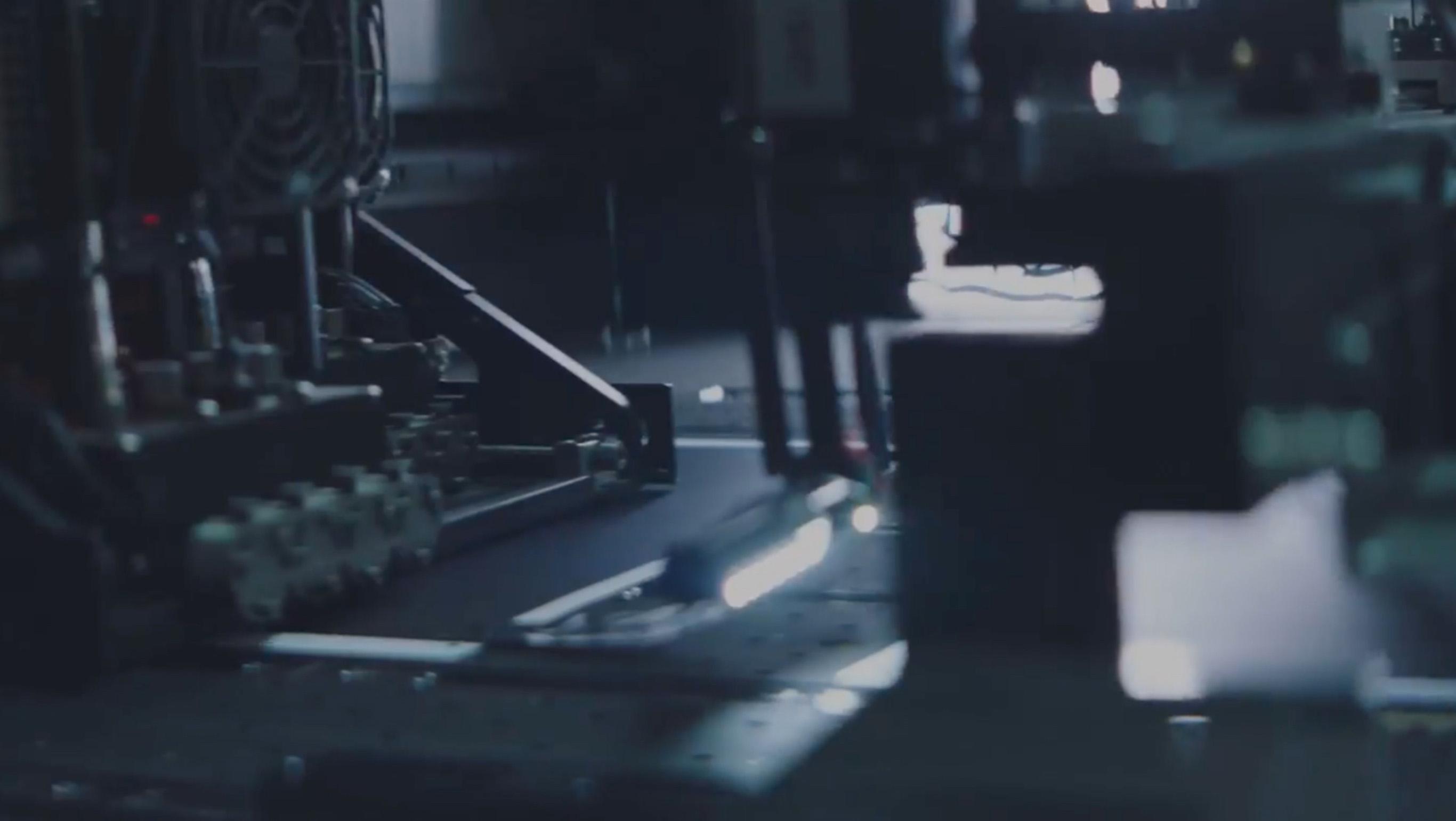 Inside a print cutting machine
